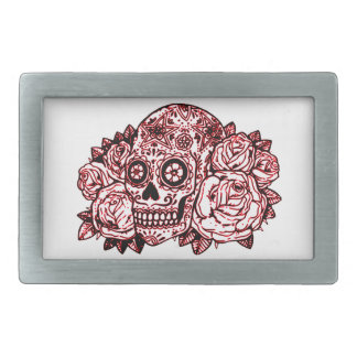 Skull and Roses Belt Buckles