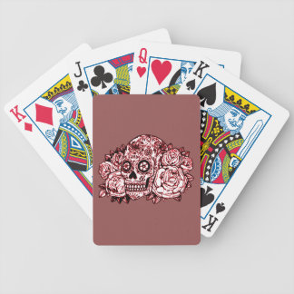 Skull and Roses Bicycle Playing Cards