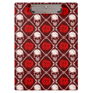skull and roses clipboard