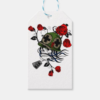 Skull And Roses Gift Tags