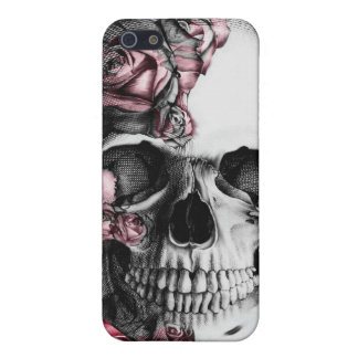 Skull and Roses I Phone Cover iPhone 5 Cases