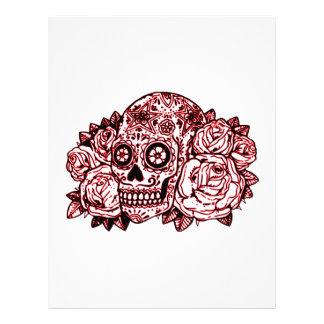 Skull and Roses Letterhead