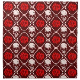 skull and roses napkin
