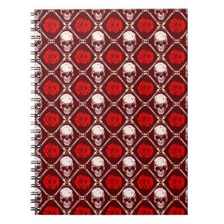skull and roses notebooks