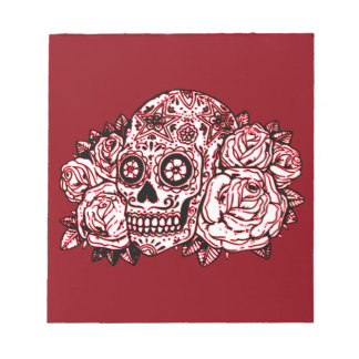 Skull and Roses Notepad