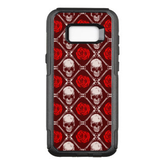 skull and roses OtterBox commuter samsung galaxy s8+ case