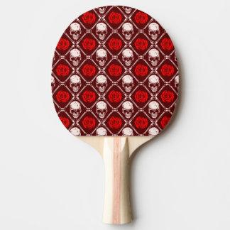skull and roses ping pong paddle