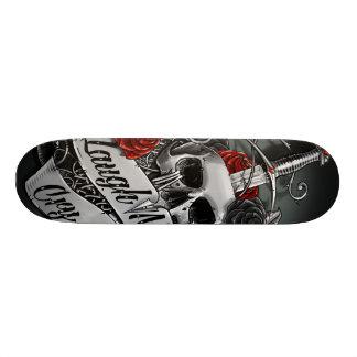 Skull and Roses Skate Deck