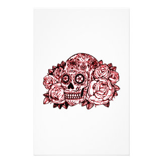 Skull and Roses Stationery