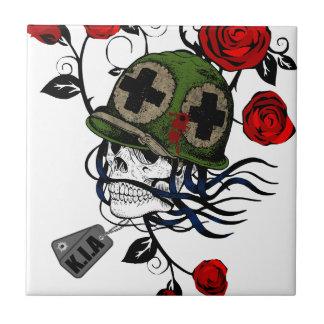 Skull And Roses Tile