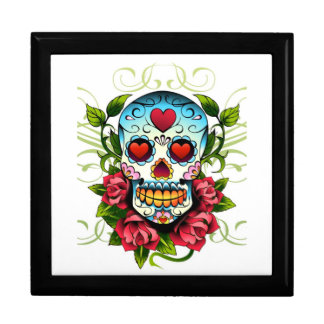 Skull and roses trinket box