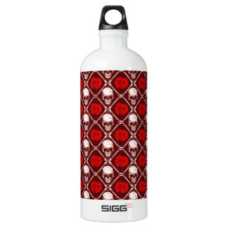 skull and roses water bottle