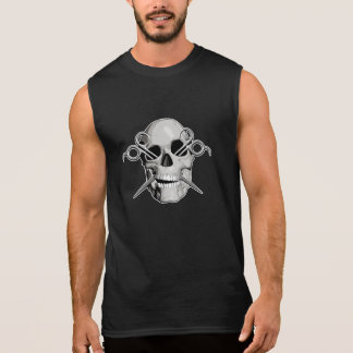 Skull and Scissors v3 Sleeveless Shirt