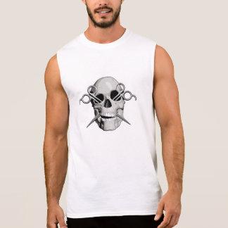 Skull and Scissors v3 Sleeveless Tees