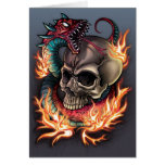Skull and Snake Tattoo Cards