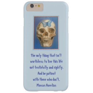 Skull and stoic quote phone phone case