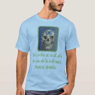 Skull and stoic quote shirt