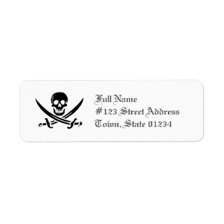 Skull and Swords Mailing Labels
