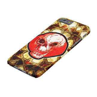 skull and traditional turkish tiles background barely there iPhone 6 case