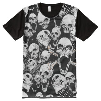 Skull and Webs All-Over-Print T-Shirt