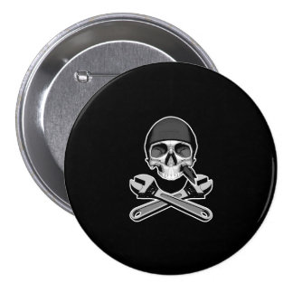 Skull and Wrenches (adjustable) Pinback Buttons