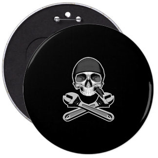 Skull and Wrenches (adjustable) Buttons