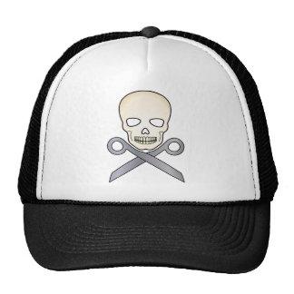 Skull and X-Scissors Trucker Hat