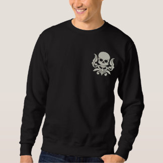 Skull Art 2 Embroidered Sweatshirt