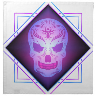 skull art napkin
