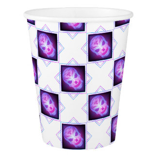 skull art paper cup
