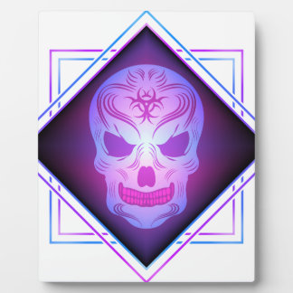 skull art plaque