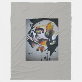 Skull Art to decorate your world. Fleece Blanket
