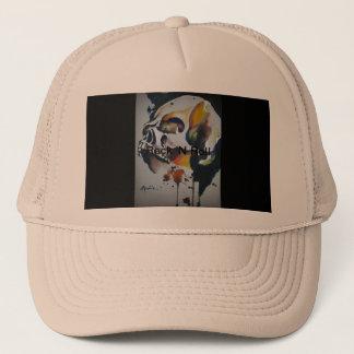 Skull Art Truckers Hat