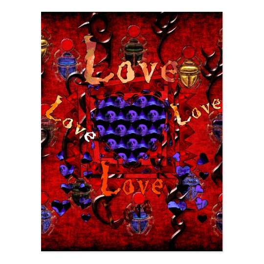 Skull Art Valentine Postcard
