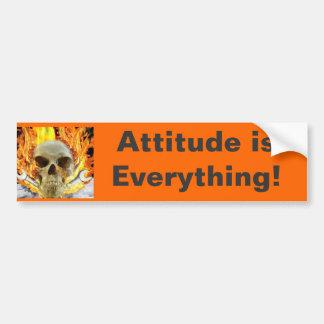 skull, Attitude is Everything! Bumper Sticker