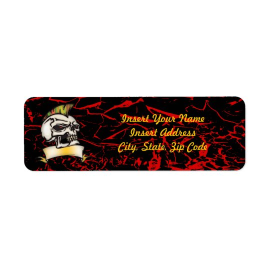 Skull Avery Label