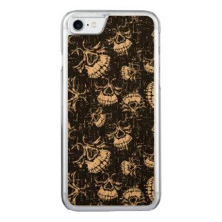 skull background carved iPhone 8/7 case