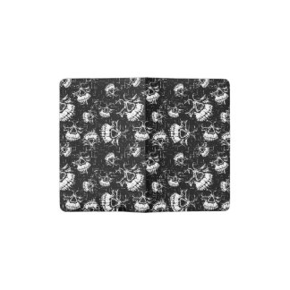 skull background pocket moleskine notebook