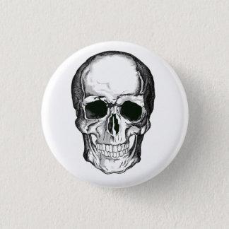 Skull badge 1 inch round button