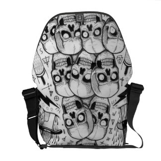 skull bag messenger bags