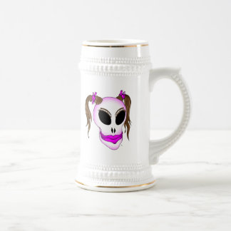 skull beauty-1 beer stein