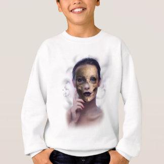 Skull Beauty Model Face Skeleton Sweatshirt