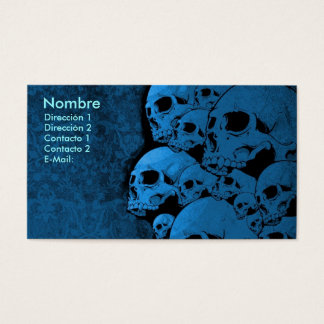 Skull, BECOMES BALD Business Card