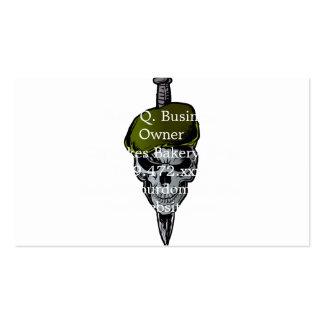 Skull Beret.military skull and dagger Business Card
