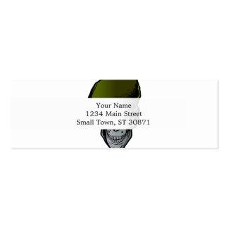 Skull Beret.military skull and dagger Mini Business Card