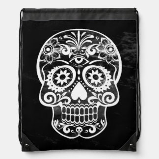 Skull black and white 04 backpack