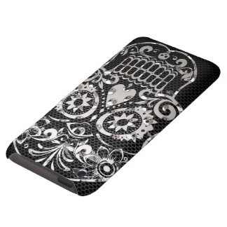 Skull black silver metal 04 iPod touch cases