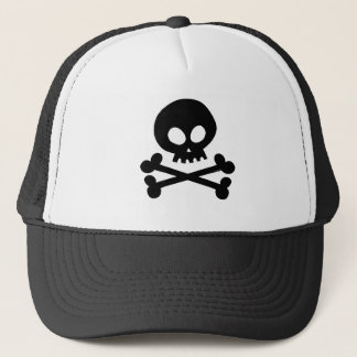 Skull-black Trucker Hat