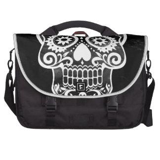 Skull black white04 commuter bags
