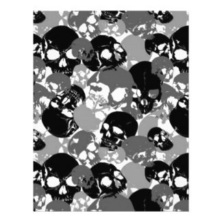 Skull Black&White Letterhead